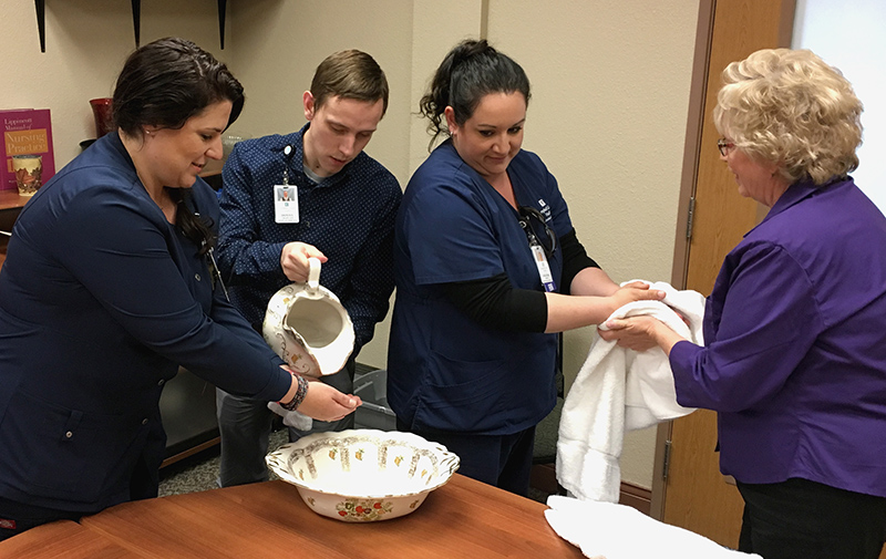During Hospital Week, Chaplains bless hands