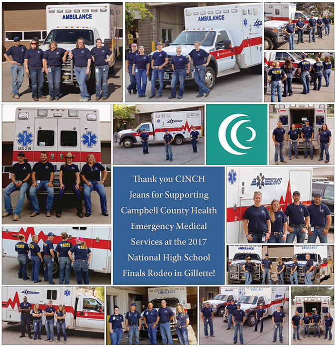 Thank you CINCH Jeans for supporting CCH EMS at the 2017 NHSFR in Gillette, Wyoming.