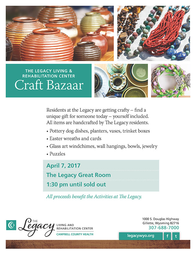 The Legacy hosts resident Craft Bazaar in April
