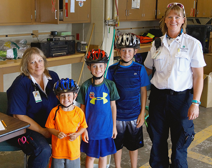Safe Kids Campbell County bike helmets