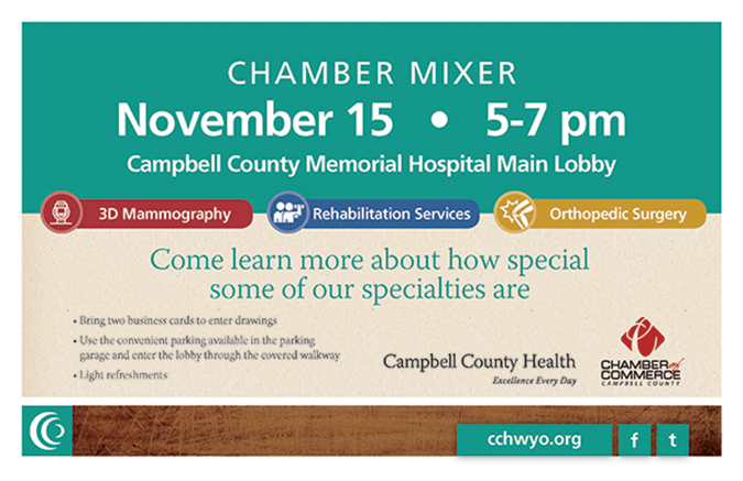 Campbell County Health Campbell County Chamber of Commerce Mixer in Gillette, Wyoming
