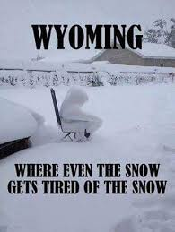 Wyoming snow meme