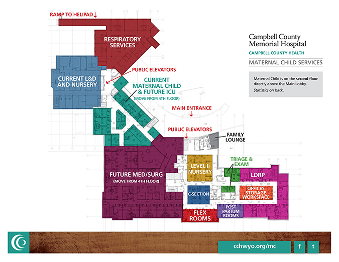 New CCMH Maternal Child Unit map