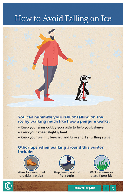 Three tips to avoid falling on the ice