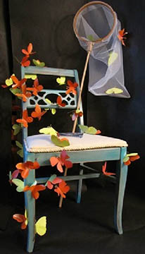 chair with butterflies