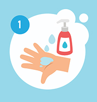 soap on hands graphic