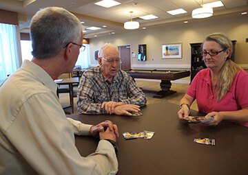 CCH The Legacy Living and Rehabilitation Center game room in Gillette, Wyoming
